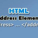 تگ address و کاربرد آن در html