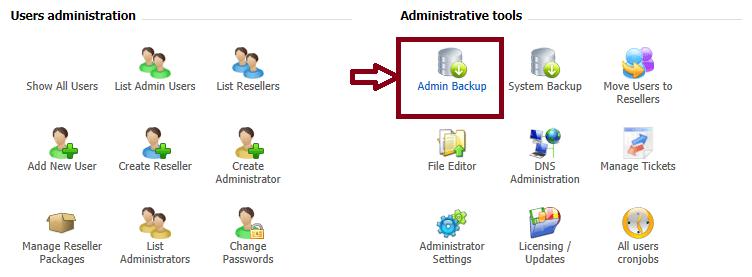 راهنمای تنظیم پشتیبان گیری در کنترل پنل Directadmin