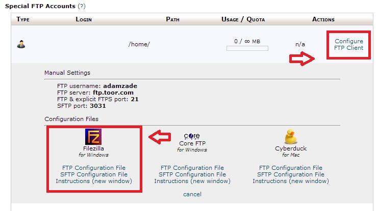 Step 3 - FTP