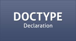 ساختار DOCTYPE در HTML