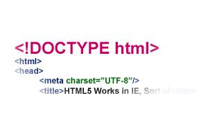 doctype در HTML5