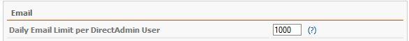 mail محدود کردن تعداد ایمیل ارسال روزانه برای یک اکانت در Directadmin