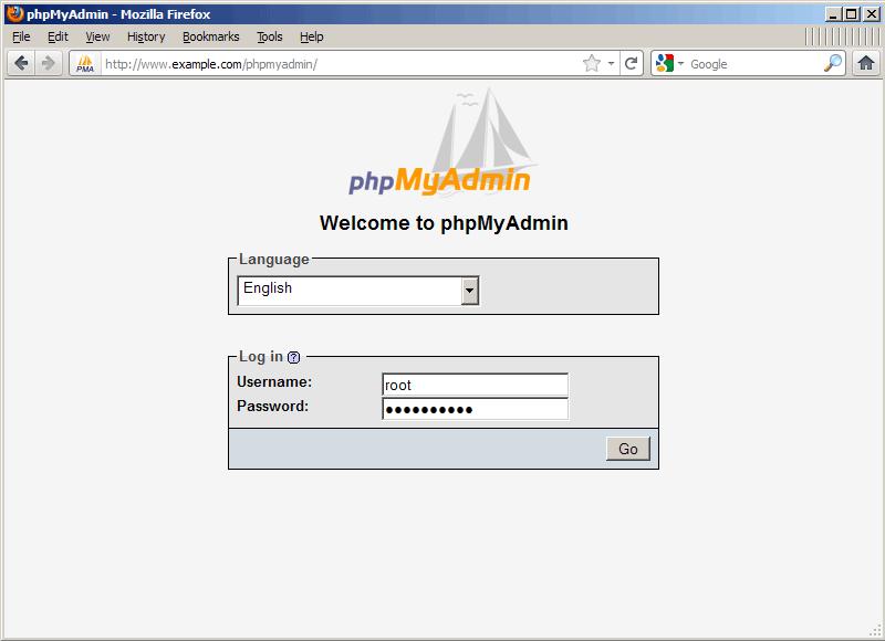 مشکل صفحه سفید در phpmyadmin
