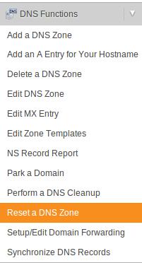 ریست کردن DNS های یک دامنه در WHM/cPanel