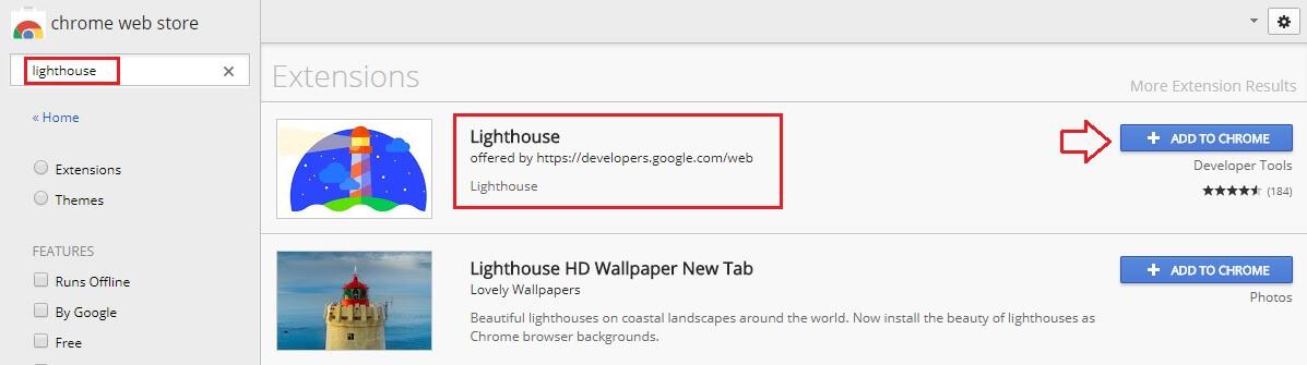 Lighthouse ابزار بررسی عملکرد سایت رایگان