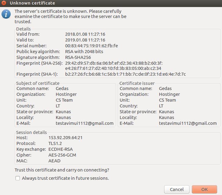 راه اندازی FTP سرور