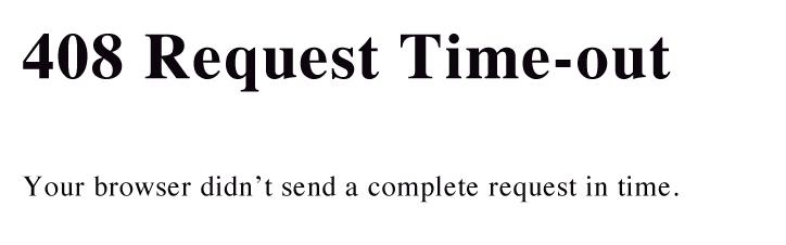 رفع خطای 408 سایت Request Timeout