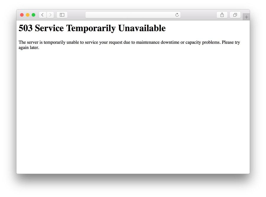 خطای 503 Service Unavailable