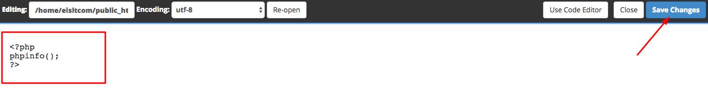 ایجاد فایل phpinfo