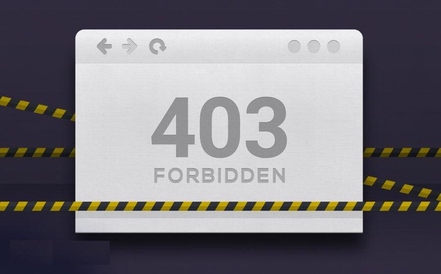 خطای 403 سایت