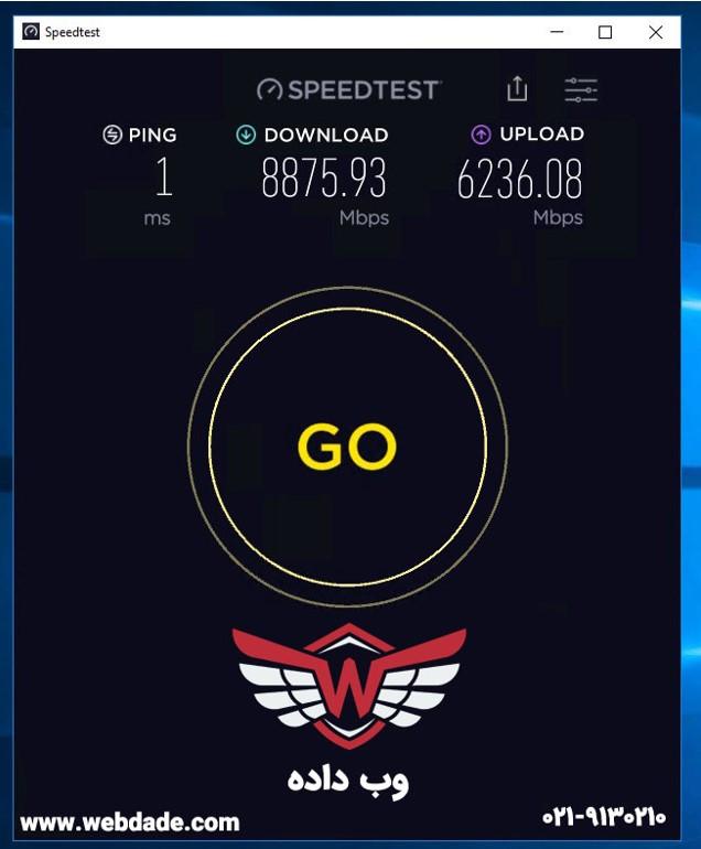 سرعت اینترنت سرور مجازی بورس